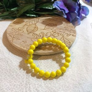 3 for $25 yellow wire wrapped bracelet